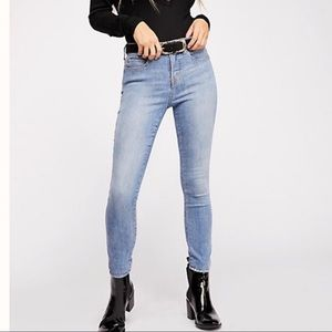 Free People CRVY High-Rise Super Skinny Jeans SKY